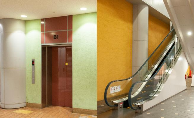 アスタプラザファーストエスカレーター・エレベーター